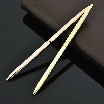 Stainless Steel Rod Rotating Metal Ballpoint Pen Office Business Signature PenMM