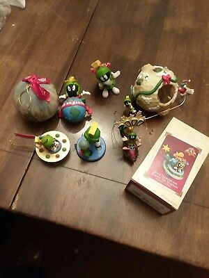 Looney Tunes Marvin The Martian & K9 Dog Ornament Lot #3