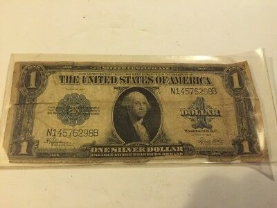 1923 Large Size Silver Certificate $1 One Dollar Bill!!