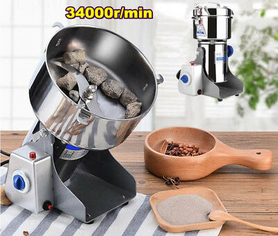800g Electric Herb Grain Grinder Cereal Wheat Powder Flour Mill Grinding Machine