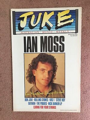Juke Magazine August 26 1989 Issue 748 Ian Moss Cover
