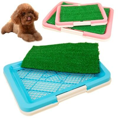 2Size Puppy Potty Trainer Indoor Training Toilet Pet Dog Grass Pad Pee Mat Patch