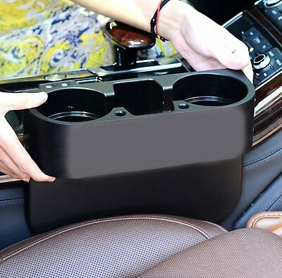 1* Car Seat Wedge Dual-Cup Drink Holder Mount Bottle Mug Stand Universal PP New