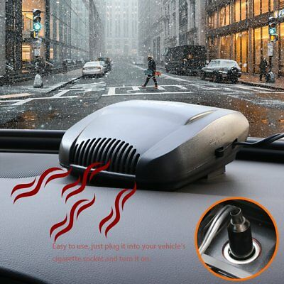 2in1 12V 150W Auto Car Vehicle Portable Dryer Heater Heating Cooler Fan Demister
