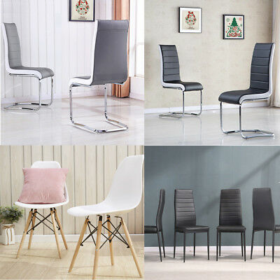 Top Quality Dining Chairs 4 Tpyes Room Lounge Dining Kitchen Office Home New
