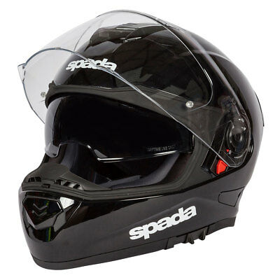 Spada RP-One Black Moto Motorcycle Motorbike Sports Full Face Helmet | All Sizes