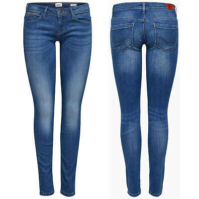 34f51006caa311 ONLY Damen Hüft Jeans Hose onlCORAL SL SK DNM CRE160353 NOOS superlow skinny  NEU