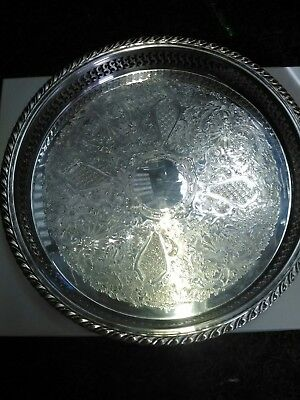 Oneida  USA  Stamped  Silver Large vintage butler's plate