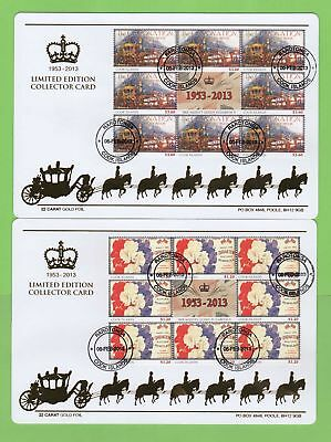 Cook Is. 2013 QEII Coronation Anniversary set Limited Edition Collector Cards