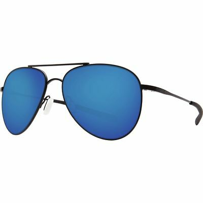 Costa Cook Polarized 580P Sunglasses COO101OBMP Satin Black Blue Mirror