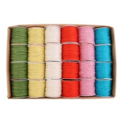10M Multicolor Twine Burlap Jute Rope Cord Wedding Gift Wrap DIY Craft Decor