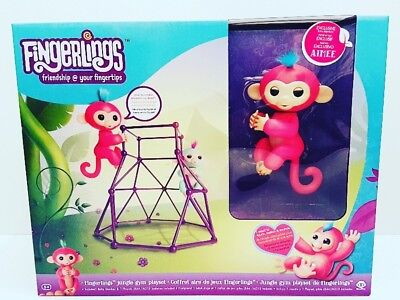 New Authentic WowWee Fingerlings Jungle Gym Playset With Exclusive Aimee Monkey