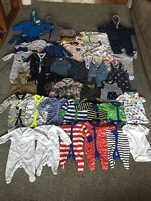 Huge Bundle Boy Clothes Newborn and 0-3 Months Including Next and Ted Baker