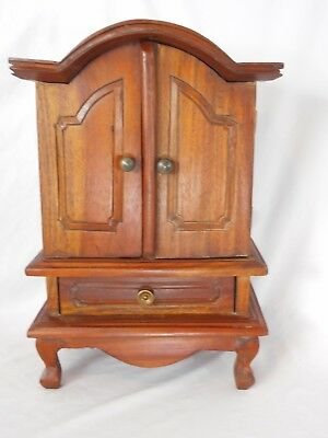Vintage wooden Furniture SALESMAN SAMPLE Wardrobe Armoire Chest Doll Accessory