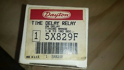 Dayton Model 5X829F Solid State Time Delay Timing Relay On Delay 1.8-180 SEC NEW