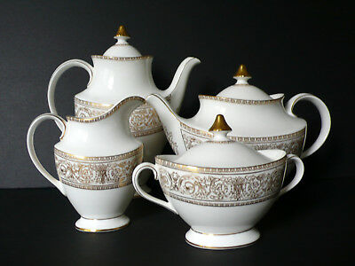 Royal Doulton SOVEREIGN Bone China Teapot Coffee Pot Creamer Sugar Bowl With Lid