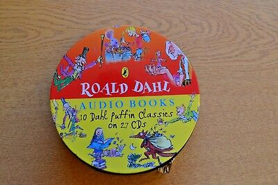 Roald Dahl Audio Books 10 Dahl Puffin Classics on 27 CDs in Zipped Case USED #A