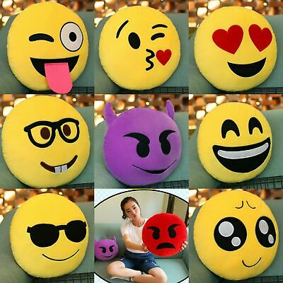 Emoji Pillows Cushion Face Extra Soft Stuffed Toy Round Emoticon Home Bed Sofa