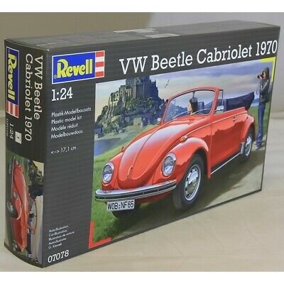 Revell 1:24 07078 VW Kafer Beetle 1500 Cabriolet Model Car Kit