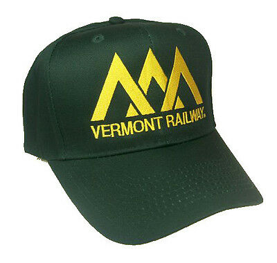 Vermont Railway Embroidered Cap Hat #40-6300G