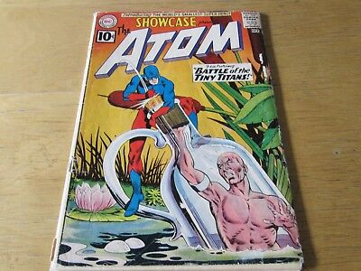SHOWCASE #34 (1st SILVER AGE ATOM) KEY DC ISSUE: GOOD+  GREAT COLORS!