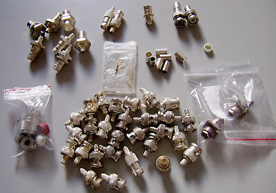 Mixed selection of BNC & N RF Connectors Mainly Shells male and female.