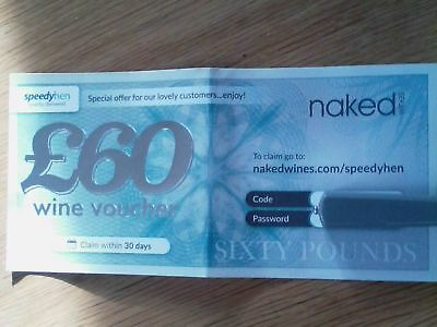 £60 Wine Voucher - Naked Wines. Get £60 off a case of wine priced £99.99 or more