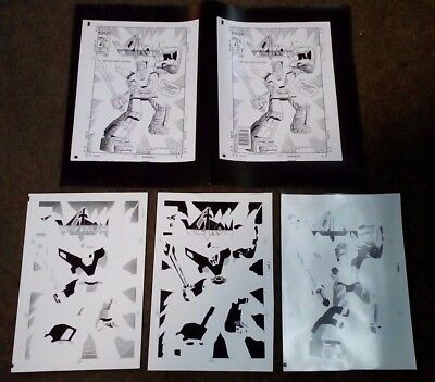 Voltron #1 1985 Front Cover Proof Art Stage Process Lot First Issue MacFury