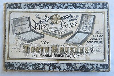 Imperial Brush Factory Toothbrush Original Box Tooth Brush Old Vtg Antique Empty