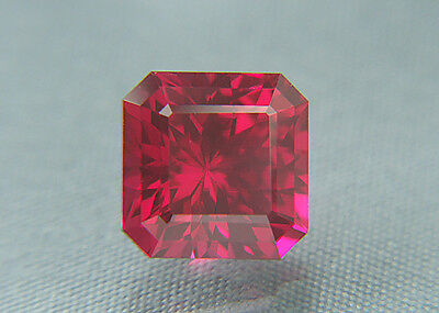 Ruby. Lab Grown Square Portuguese Cut.10.35mm. 7.85cts