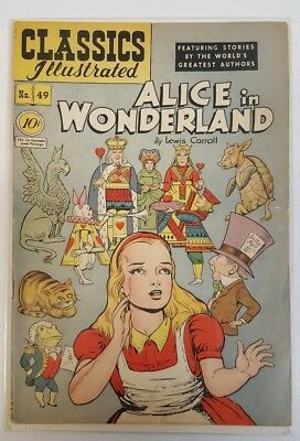 Classics Illustrated #49 Alice in Wonderland,1948 4.5 VG+ CLEAN! Lewis Carroll
