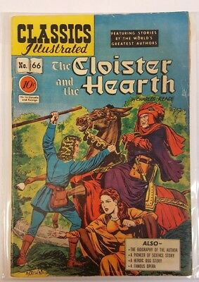 Classics Illustrated #66 Cloister and the Hearth 1949 3.0 GD/VG Charles Reade