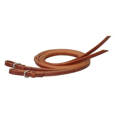"Weaver Leather Skirting Leather Quick Change Split Reins, Chestnut, 5/8"" x 8'"