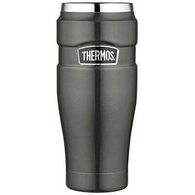 Thermos Stainless King 16 Ounce Travel Tumbler, Smoke