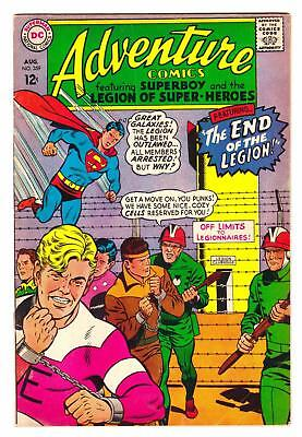 "ADVENTURE COMICS #359 (8/67)--VG+ / Superboy & LOSH; ""End Of The Legion"" story^"