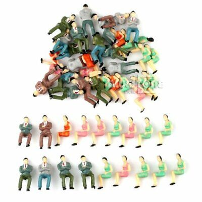 50Pcs Scale 1:50 Painted Model Seated Figures People Train Passengers Layout