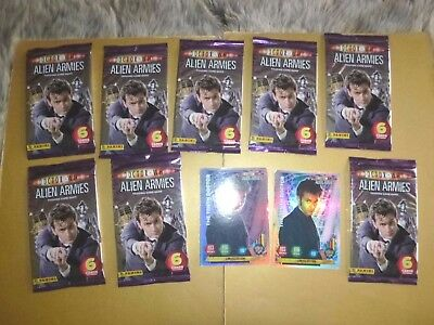 (8 Sealed Packs) DOCTOR WHO ALIEN ARMIES Trading Cards Plus 2 FOIL CARDS