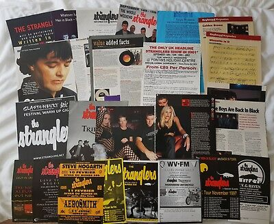 The Stranglers Various Cuttings and Flyers