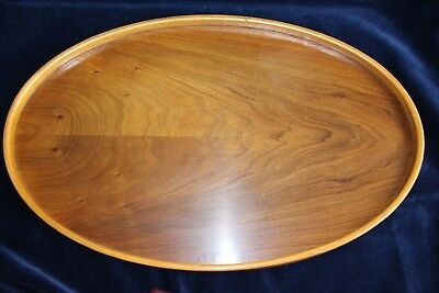 "Antique/Vintage Oval Wooden Butlers Tray Gallery Sides, In Good Order, 20""x 13"""