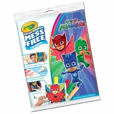 Crayola PJ Masks Color Wonder Mess Free Magic Colouring Book & Pens Set
