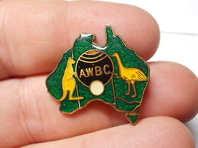 Australia Shaped A W B C Metal & Acrylic Badge with Coat of Arms!