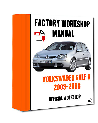 >> OFFICIAL WORKSHOP Manual Service Repair Volkswagen Golf V 2003 - 2008