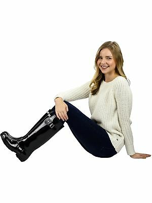 Exotic Identity Women's Original Tall Knee-High Rubber Rain Boot
