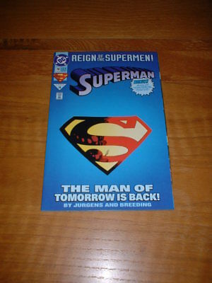 Superman 78. Nm Cond. June 1993. Card Stock Die Cut Cover