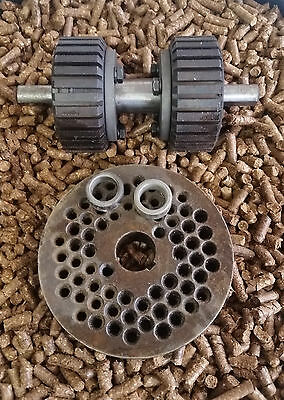 """5"""" (120mm) Roller Assembly and Die for Replacement or Homemade Pellet Mill - NEW"""