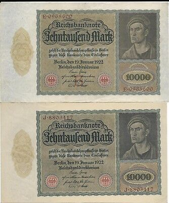 Germany 9 different high inflation notes, most Lightly Circulated.