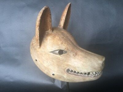 Antique, Japanese, Museum-Quality, Kitsune (Fox), Aged Patina with custom stamd