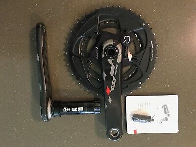 Quarq Sram Red Power Meter Crankset 172.5mm 50/34 BBright. 11 speed rings.
