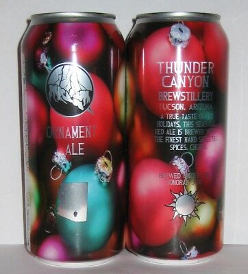 ORNAMENT ALE 16 oz Craft Beer Can THUNDER CANYON BREWERY TUCSON, AZ - CHRISTMAS