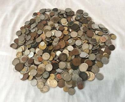 10+ lbs. Foreign Coins Numerous Countries Some Pre-1900s Coins